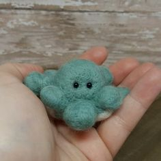Needle Felt Octopus Octopus Decor Mini Octopus by MatildaAugust