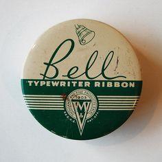Bell // Vintage Typewriter Tins
