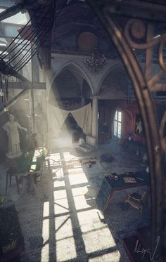 ECLECTIC LOFT: when romanesque meet gothic on Behance