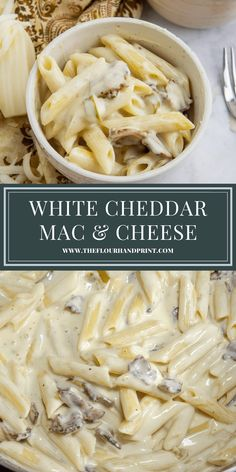 Creamy white cheddar mac and cheese with bacon is loaded with two cheeses, crisp salty bacon, and a pop of tangy spice from pickled jalapenos. This gourmet mac and cheese is easy to make and delicious. #macandcheese #whitecheddarmacandcheese #jalapenomacandcheese #baconmacandcheese #homemademacandcheese #theflourhandprint Gourmet Mac And Cheese, Jalapeno Mac And Cheese, Cheddar Mac And Cheese, Mac And Cheese Homemade, White Cheddar, Best Pasta Recipes, Easy Dinner Recipes, Breakfast Recipes, Easy Meals