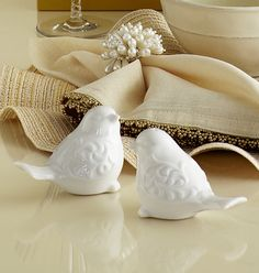 These adorable salt and pepper shakers stand out