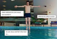Image result for brendon urie jesus