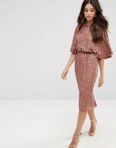 ASOS Sequin Kimono Midi Dress