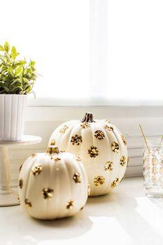 Glitter Polka Dot Pumpkin