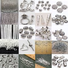 Wholesale Silver Plated Chain/Hook/Pin/Jump Ring/Clasp Charm Jewelry Making Tool…