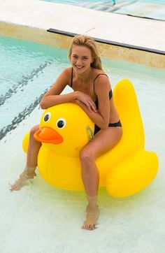 Sunnylife+'Really+Big'+Inflatable+Duck+Pool+Toy+available+at+#Nordstrom
