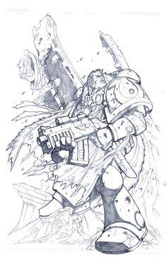 Warhammer40K_Ultramarine by LoganLee