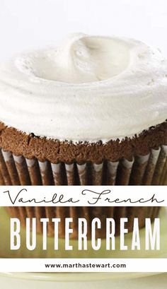 Vanilla French Buttercream | Martha Stewart Living - This wonderful vanilla French buttercream should be paired with Butter Lane's Chocolate Cupcakes.
