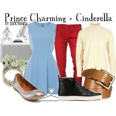 Prince Charming + Cinderella, created by lalakay on Polyvore #disney I wanna go on a cute date dressed like this c: