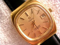 Vintage Omega Seamaster Cal. 1012 Date Automatic Mens Gold Plated Watch