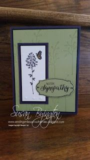 Stampin' Up! sympathy card using Flowering Fields and Rose Wonder stamp sets and Rose Garden Thinlits.