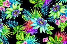 Passion Fruit by Elena Belokrinitski watercolor pattern on Behance