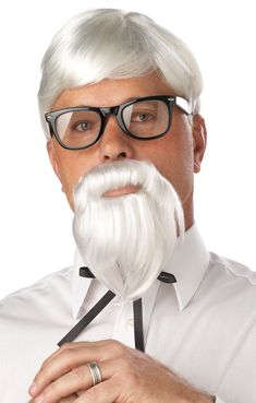 The Colonel Wig & Moustache - Don't be a chicken! Suit up and eat all the Kentucky fried chicken you want when you wear the Colonel white wig and moustache. Costume Wigs, Costume Shop, Cool Costumes, Adult Costumes, Halloween Costumes, Halloween Couples, Halloween Parties, Pastor, Sewing Patterns