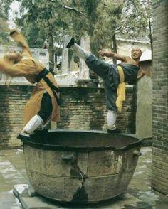 Shaolin bagua fighting