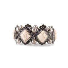 Shyanne® Women's Vintage Stone Cuff Bracelet