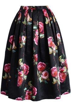Chicwish skirt Shades of Roses Pleated Midi Skirt