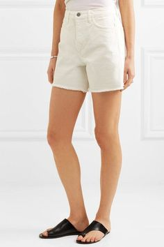 M.i.h Jeans - Caron Cut-off Denim Shorts - White - 27