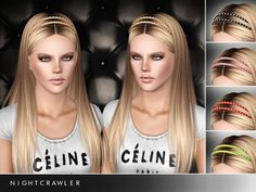 AF Hair 12 Straight long haircut with headband by Nightcrawler - Sims 3 Downloads CC Caboodle