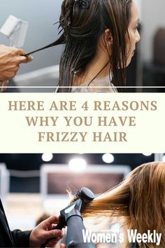 What causes frizzy hair? Frizz is most likely to happen when hair is dehydrated due to chemical bleaching, sun exposure, heat-styling, dieting – sometimes it just naturally happens to be that way. #haircare #healthyhair Hair Frizz, Frizzy Hair, Dry Hair, Asian Hair Care, Dramatic Effect, That Way, Healthy Hair, Bleach, Your Hair