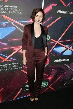 Pin for Later: Die Hollywood-Stars feierten bei den Britannia Awards Lily Collins