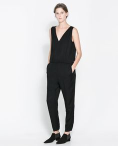 Image 1 of JUMPSUIT WITH ELASTIC WAIST from Zara