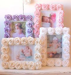 Vintage Inspired Roses Picture Frame Pink 1431 Other Colors Available-vintage, pink, romantic, sparkle, crystals, white, cream, lavender, shade, chandelier, night light, upscale,