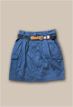 Shop Kempt's Devan Cargo Skirt Blue $35.00