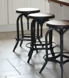 Our Steel Magnolias original barstools in a customer's kitchen.