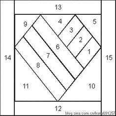 13 paper piecing heart quilt block