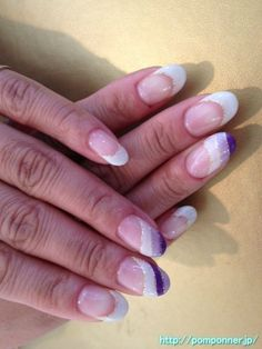 Don't care about the design in purple but I love the shape and the French tips
