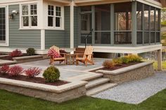 Outdoor Kitchen Paver Patio and Screened Porch Ideas . Outdoor Kitchen Paver Patio and Screened Porch Ideas . Deck and Patio Bo Cozy Backyard, Backyard Patio Designs, Backyard Landscaping, Landscaping Ideas, Backyard Ideas, Backyard Layout, Concrete Paver Patio, Paver Sand, Paver Edging