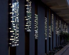 Exterior wall detail (called 'Thousand Moons') of Mezban Inverted Topography business hotel by Collaborative Architecture