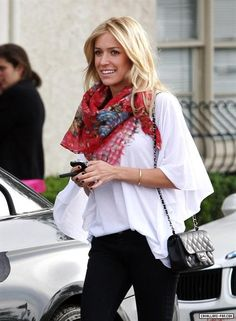 Kristin Cavallari wears an Elizabeth and James Flutter Tee leaving the Neil George Salon February 26, 2010.