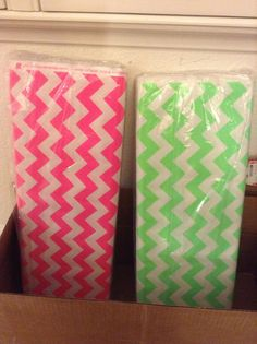 HOT TREND  Riley Blake chevron in neon pink or by FishkoppShop, $8.99