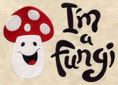 I'm a Fungi embroidered baby bib by MorningTempest on Etsy, $15.00