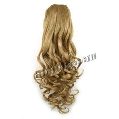 Drawstring Curly #27 Strawberry Blonde Ponytail Remy Hair Extension Full End Ponytail Hair Bundles 14-32 inch in Stock