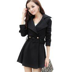 2Color Women Korean Slim Fit Outerwear Trench Coat Windbreaker Jacket with Belt Black,Medium Fancy Dress Store,http://www.amazon.com/dp/B00EVQIHGS/ref=cm_sw_r_pi_dp_iD4Rsb0F47V53X6X