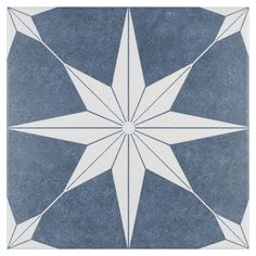 Merola Tile Stella Azul Encaustic in. Porcelain Floor and Wall Tile sq. / case)-FCDSTAZ - The Home Depot Mosaic Tiles, Wall Tiles, Artistic Tile, Ceramic Subway Tile, Wall Patterns, Stone Tiles, Porcelain Tile, Decoration, Patterned Wall