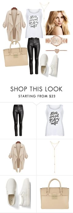 """Untitled #20"" by jasminalugavic ❤ liked on Polyvore featuring H&M, LC Trendz, Fragments, Gap, Furla, Michael Kors and plus size clothing"