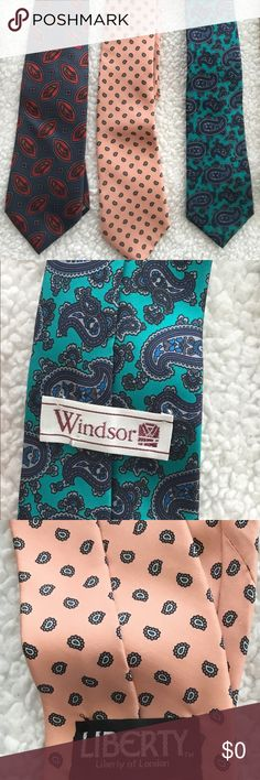 Vintage Ties~ Jefferson,Windsor, Liberty. My Dad's Vintage Ties~ Jefferson,Windsor, Liberty. My Dad's ❤️🌹. Sharp Dressed Man~ Trying To Decide ~ Any Suggestions? 😍 Vintage Accessories Ties