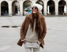Furry Hat + Wool Coat