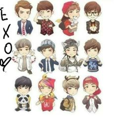 Cartoon Exo