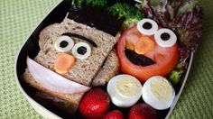 Try Sesame Street Bento for Fun School Lunches AND why not for breakfast. Good Foods To Eat, Food To Make, Cute Food, Yummy Food, Healthy Food, Funny Breakfast, Pbs Food, Food Humor, Cooking With Kids