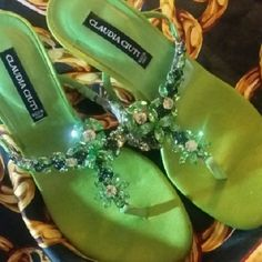 CLAUDIA CIUTI DRESS SANDAL HEELS Lovely rhinestone strapped heels made in Italy by Claudia Ciuti size 5M not worn. Claudia  Ciuti Shoes Heels