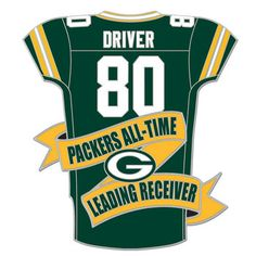 Packers Donald Driver #80 Leading Receiver Pin