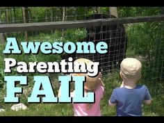 """Black Bears """"Fighting"""" at the Zoo Funny Parenting FAIL If you ever doubt that you're doing a good job at this parenting thing....this video should be an enco..."""