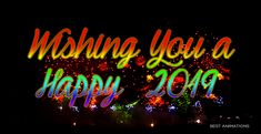 Free Happy New Year 2019 animated gifs - best New Year wishes and greetings animation collection. Happy New Year Animation, Happy New Year Gif, Happy New Year Quotes, Happy New Year Greetings, Quotes About New Year, Best New Year Wishes, Cool Animations, New Year 2020, Birthday Wishes