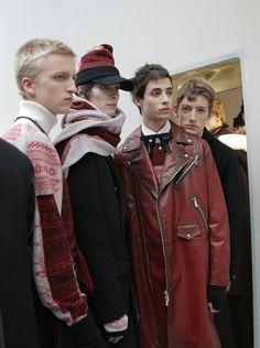 Johan Kroon, Oscar Kindelan & Theo Urtubey by Delphine Achard - Backstage at Dior Homme FW16