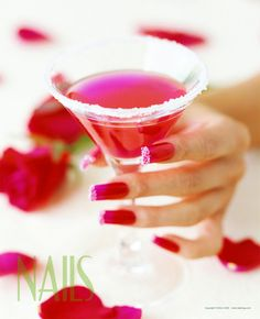 The red nail polish and martini glass are the perfect accessories to a girl's night out. - $1