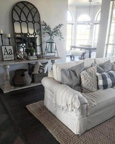 Awesome Farmhouse Living Room Design Ideas – Decorating Ideas - Home Decor Ideas and Tips Farmhouse Dining Room Rug, Farmhouse Decor, Country Farmhouse, Country Decor, Modern Farmhouse, Country Chic, Rustic Decor, Rustic Style, Rustic French